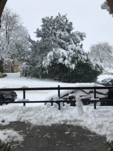 A Christmas snowfall in Chipping Norton